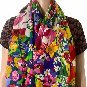 Gucci Large Rare Silk Floral Scarf